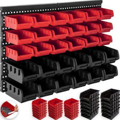Masko Stapelboxen Wandregal 32 Teile für 15,80€