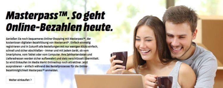 Saturn u. Media Markt: Bei Zahlung mit Masterpass 20€ Direktabzug ab 100€ nur am Wochenende!
