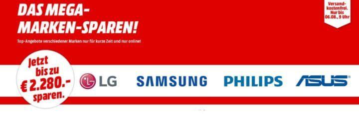 Media Markt Mega Marken Sparen: günstige Artikel von LG, Samsung, Philips und Asus