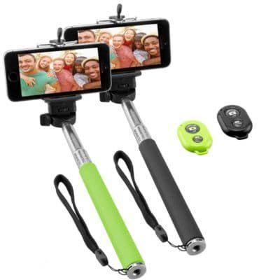 NINETEC Picturesmart Selfie Sticks + Bluetooth Auslöser für IOS + Android im Doppelpack für nur 7,77€