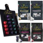Grand Maestro Italiano Probierpaket mit 200 Kaffeekapseln (Nespresso) + Kapselhalter für 44,99€