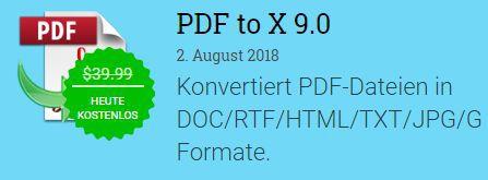 PDF to X 9 (Jahreslizenz, Windows) kostenlos