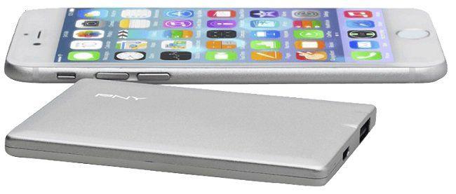 PNY PowerPack ALU 2500 Powerbank 2500 mAh in silber für 6,99€ (statt 10€)