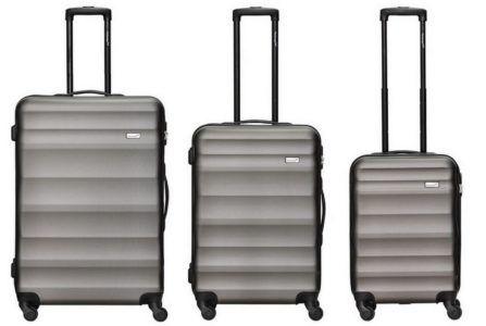 Packenger Timber   3er Koffer  Trolley Hartschalen Set aus ABS für 99,95€