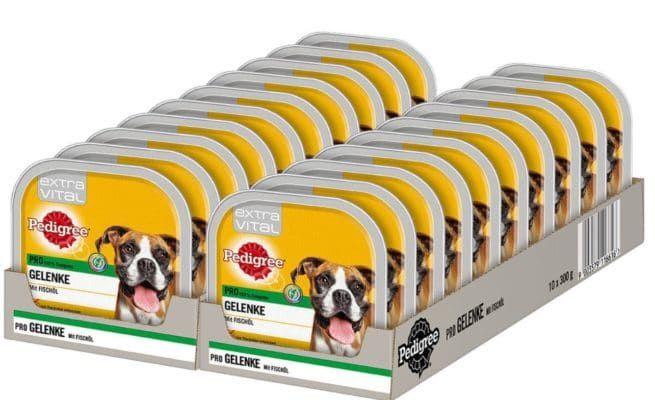 Pedigree Hundefutter 20 x 300g Schalen   5 Sorten für je 15,99€