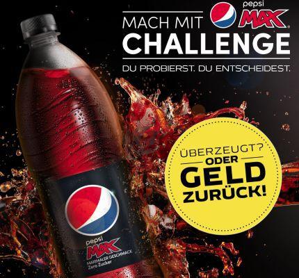 Pepsi Max kostenlos testen dank Geld zurück Garantie