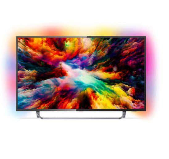 Philips 55PUS7373/12  55 Zoll UHD TV mit 3 seitigem Ambilight für 599€ (statt 899€)