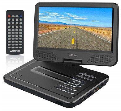 WONNIE 10.5 tragbarer DVD Player mit schwenkbaren Bildschirm für 29,49€ (statt 59€)