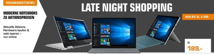 Saturn Notebook Late Night: z.B. HP Pavilion 15 cb031ng Gaming Notebook mit i7 für 999€ (statt 1.189€)