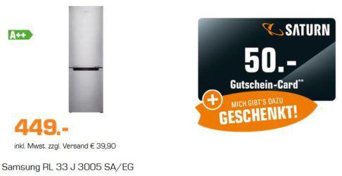 Samsung RL33J3005SA/EG   Kühl Gefrier Kombination für 488,99€ (statt 529€) + 50€ Gutschein!