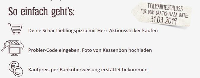 Schär glutenfreie Pizza gratis