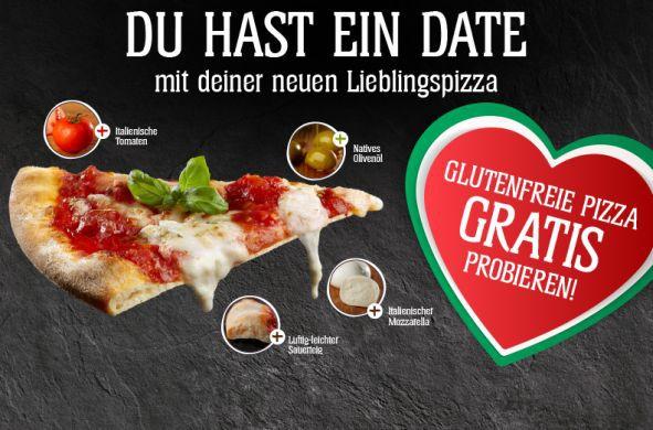 Schär glutenfreie Pizza gratis testen dank Geld zurück Garantie