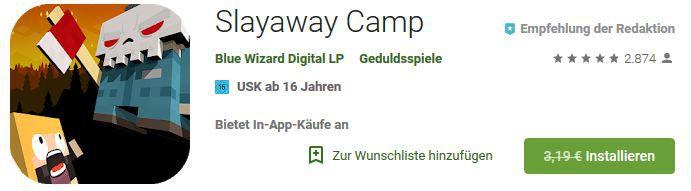 Slayaway Camp (Android) gratis statt 3,19€