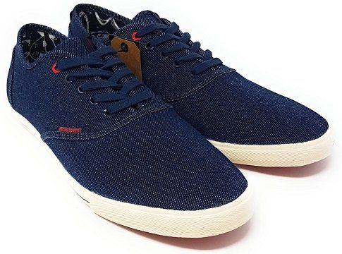 JACK & JONES Herren Jjspider Sneaker in Blue Denim, Größe 43 für 12,99€ (statt 16€)