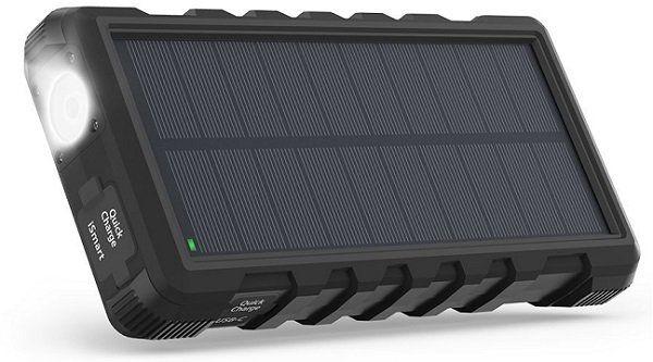 RAVPower QC3.0 Outdoor Solarladegerät mit 25000mAh und Taschenlampe für 41,99€ (statt 55€)