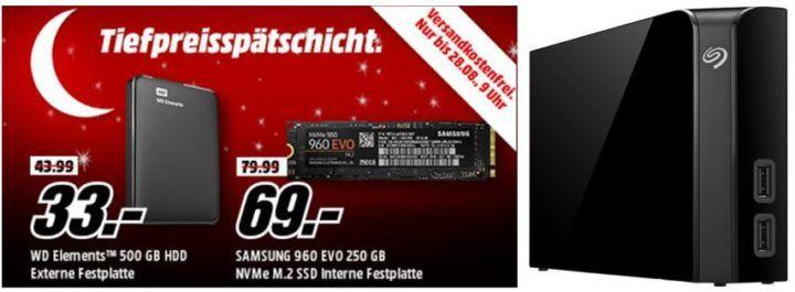 Media Markt Speicher Tiefpreisspätschicht: z.B: WD Elements 500 GB externe HDD für 33€ (statt 44€)