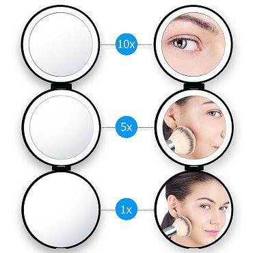Lightswim LED Kosmetikspiegel mit drei Vergrößerungsstufen für 8,99€ (statt 18€)