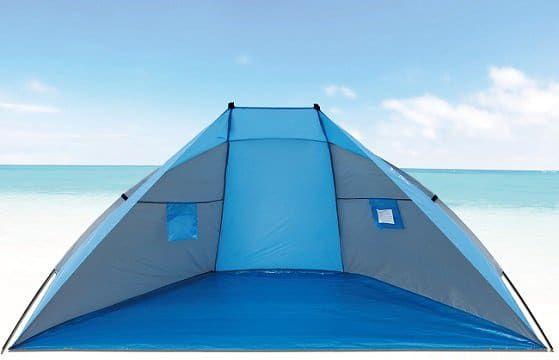 Explorer Strandmuschel Sonnen  und Sichtschutz für 18,99€ (statt 33€)