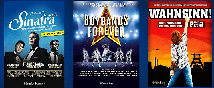 Tickets für verschiedene Show Highlights bei Vente Privee   z.B. Boybands Forever ab 37,31€ (statt 60€)