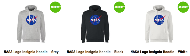 NASA Logo Hoodie für 23,79€ (statt 40€)