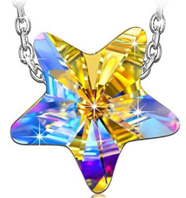 Kami Idea Damen Kette Lucky Star aus Sterlingsilber mit Swarowski Kristall für 7,99€ (statt 25€)