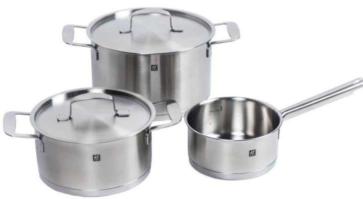 Zwilling Base   3teiliges Kochtopf Set für alle Herdarten für 89,99€ (statt 116€)