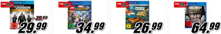 Media Markt: 3 Konsolen oder PC Games für 79€