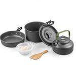 Camping-Kochgeschirr aus leichtem Aluminium von Terra für 13,49€ (statt 27€)
