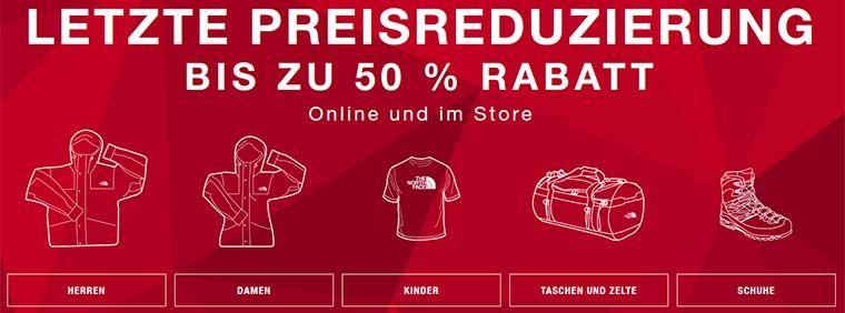 The North Face Sale mit bis zu 50% Rabatt + VSKfreie Lieferung + 10€ NL Gutschein