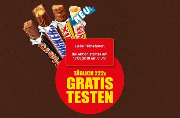 Twix, Snickers oder Mars Sticks mit etwas Glück gratis abstauben