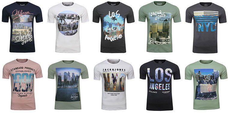 Diverse Jack & Jones T Shirts für je 7,99€