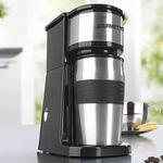 GOURMETmaxx Togo – Edelstahl Single Kaffeemaschine inklusive Thermobecher für 17,99€ (statt 25€)