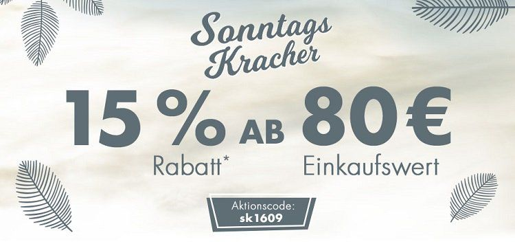 Karstadt Sonntags Kracher mit 15% Rabatt auf nicht reduzierte Artikel ab 80€ MBW