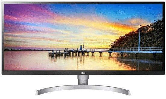 LG 34WK650 W 34 FullHD Monitor mit 5 ms Reaktionszeit, FreeSync, 75 Hz für 309€ (statt 425€)