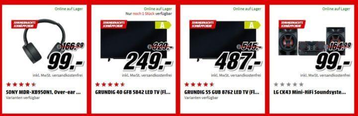 Media Markt Sommernacht Sale bis 6 Uhr: z.B. BenQ GL2580H Monitor für 99€ (statt 119€)