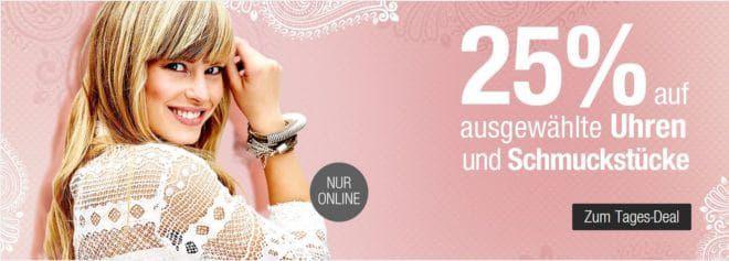 Galeria Kaufhof Dienstag Angebote: heute 25% Rabatt auf ausgewählte Uhren & Schmuckstücke, Taschen, Düfte und vieles mehr