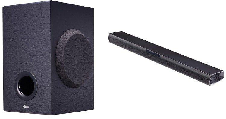 LG SJ2 Soundbar   2.1 System mit externem Subwoofer ab 71,10€ (statt 83€)