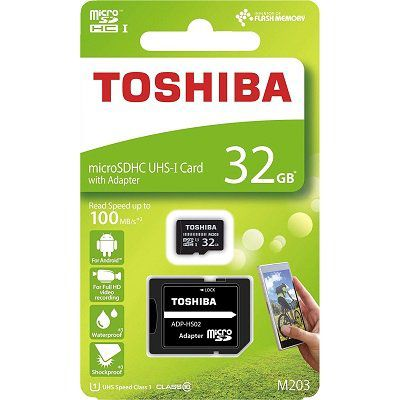 Toshiba M203   32GB microSD Karte (Class 10, UHS Speed Class 1) für 8€ (statt 16€)