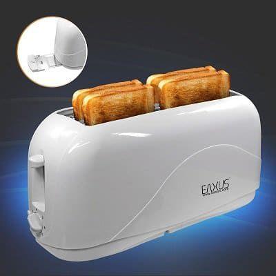 Eaxus Langschlitz Toaster 4 Scheiben Cool Touch mit Krümelfach für 16,99€ (statt 20€)