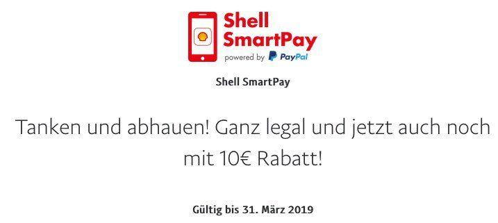 Wieder da! Gratis Benzin oder Diesel für 10€ dank Paypal Gutschein via Shell SmartPay ⛽