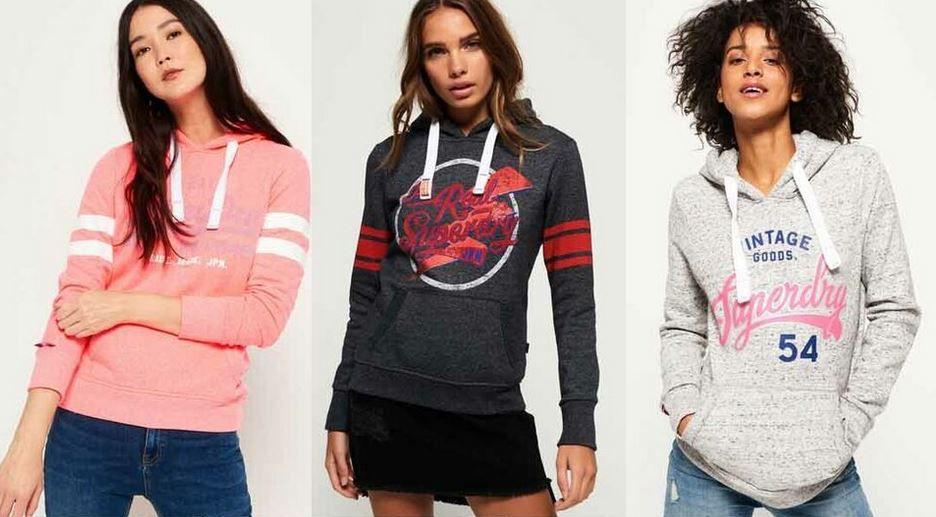 Superdry Damen Hoodies neue Modelle für je 27,95€