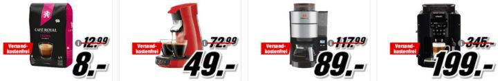 TOP! Media Markt Kaffee Late Night: günstige Maschinen, Kaffe & Zubehör