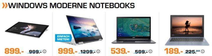 Saturn Notebook Late Night: z.B. ACER Swift 3 15,6 Notebook für 539€ (statt 599€)