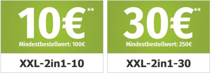 Garten Möbel & Geräte mit bis 30€ Rabatt bei  GartenXXL
