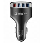 USB-Ladegerät für Autos mit 4 Ports und QC 3.0 für 2,79€
