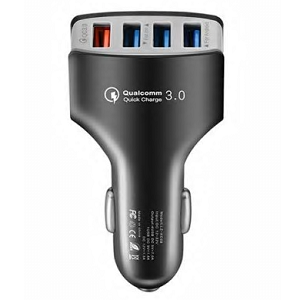 USB Ladegerät für Autos mit 4 Ports und QC 3.0 für 2,79€