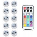 10 wasserdichte LED-Teelichter mit 12 Farben & Fernbedienung für 9,63€
