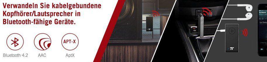 TaoTronics TT BR009   Bluetooth 4.2 Aux Adapter mit Mikrofon für 13,99€ (statt 18€)