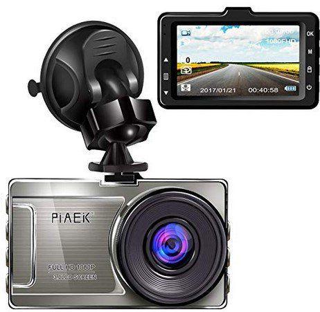 PiAEK 1080p Dashcam mit 3 Zoll Display & 170° Weitwinkel für 32,99€ (statt 55€)
