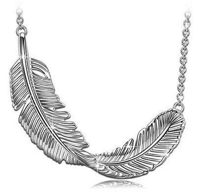 Princess Nina Damenkette 925er Silber Feder für 12,99€ (statt 30€)   Prime